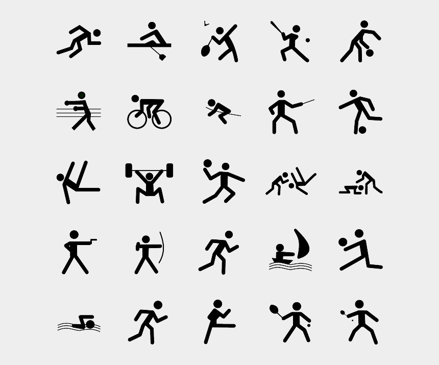 physical activity clipart, Cartoons - Other Activities You Can Log - Olympics Sports Symbols
