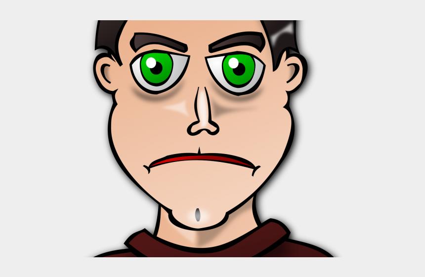 kid face clipart, Cartoons - Profile Clipart Kid Face - Green Eyed Man Clipart