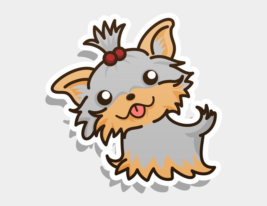 yorkie clipart, Cartoons - Husky Clipart Kawaii - Kawaii Husky Drawings Cute