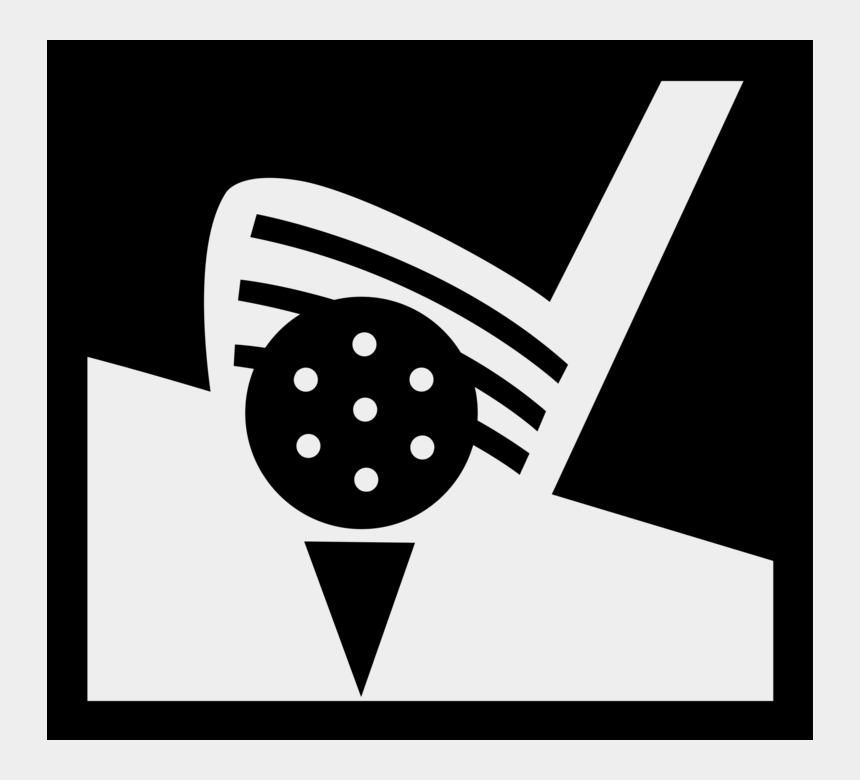 golf club clipart black and white, Cartoons - Golf Club And Ball Png - Illustration