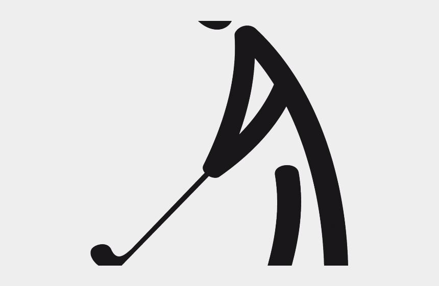 golf club clipart black and white, Cartoons - Golf Course Clipart Transparent