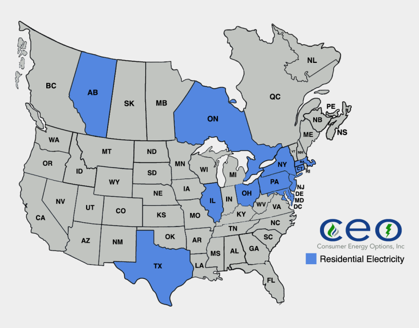 senate clipart, Cartoons - Blue Electricity Png - Map Of North American Area Codes