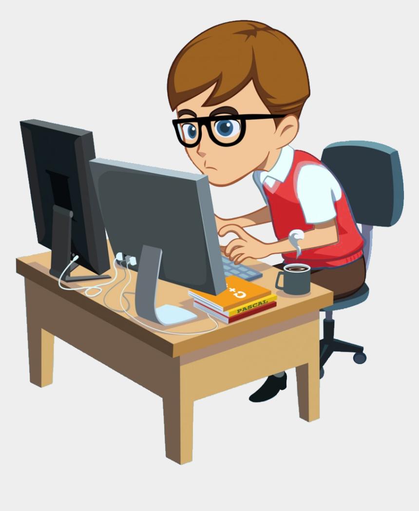 agent clipart, Cartoons - Customer Care / Support Clientrunner - Clip Art Computer Programmer