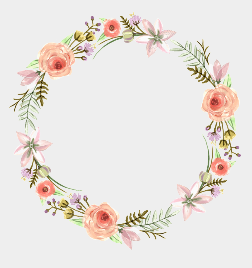 bridesmaid clipart, Cartoons - Flower Wreath Bridesmaid Design Invitation Floral Wedding - Floral Cartoon Wreath Png