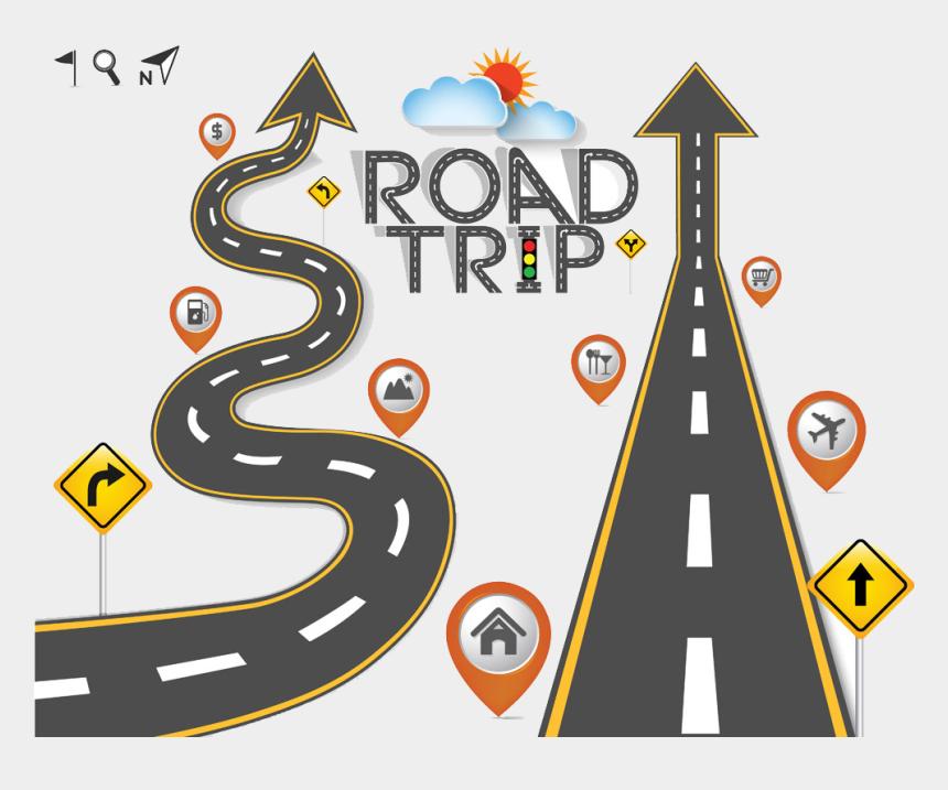 winding roads clipart, Cartoons - Maps Clipart Road Trip - Road Trip Vector Free