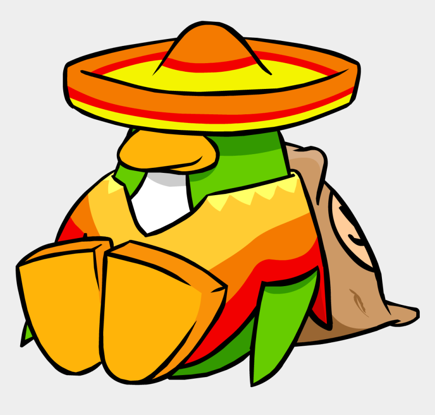 sombrero clip art, Cartoons - Mexican Sombrero Clip Art Free N34 - Club Penguin Mexican Penguin