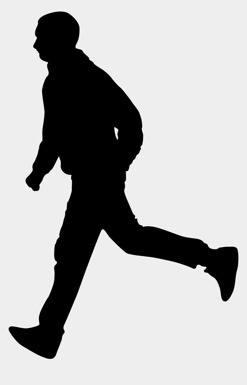 clip art people, Cartoons - Running Man Silhouette Png Clip Art Image - Black Shadow Man Png