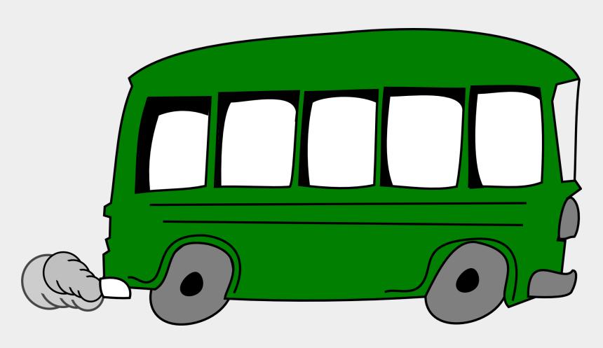 bus clip art, Cartoons - Green Bus Clip Art
