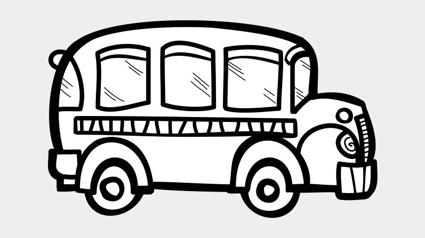 bus clip art, Cartoons - White Bus Clip Art