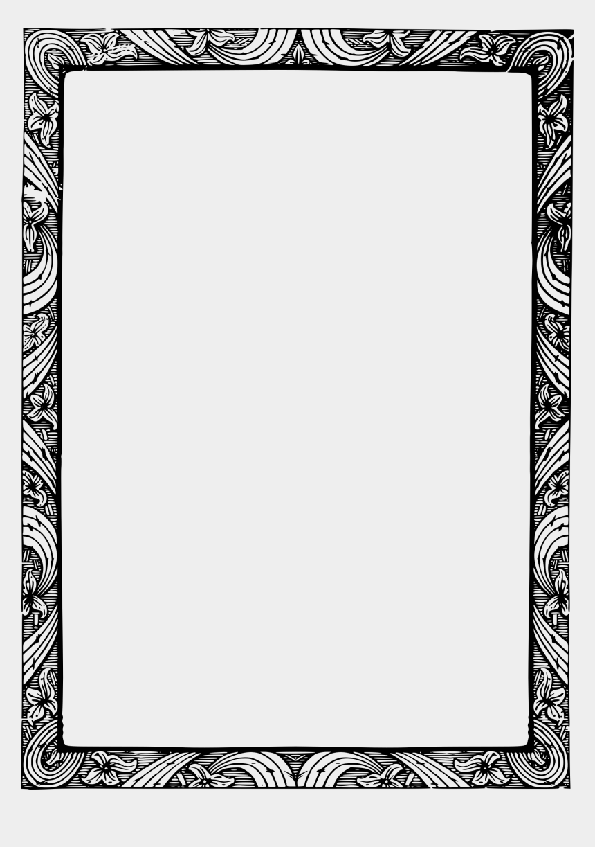 christmas clip art border, Cartoons - Christmas Border Clipart Black And White - Vintage Photo Borders Gif