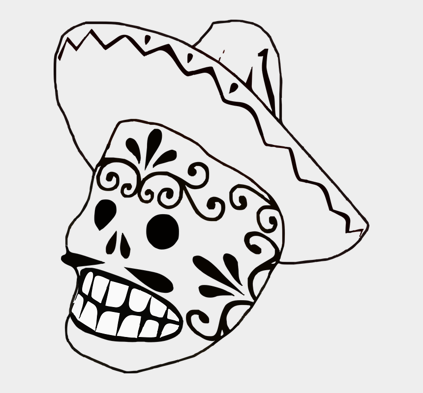 sombrero clip art, Cartoons - Mask Mexican Sombrero Mustache Grin - Wedding