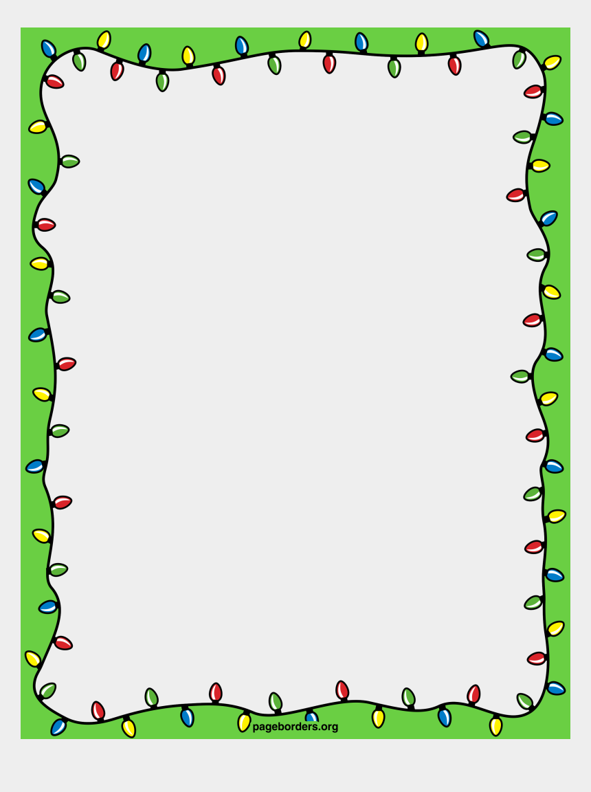 christmas clip art border, Cartoons - Holiday Lights Border Png - Transparent Background Christmas Border