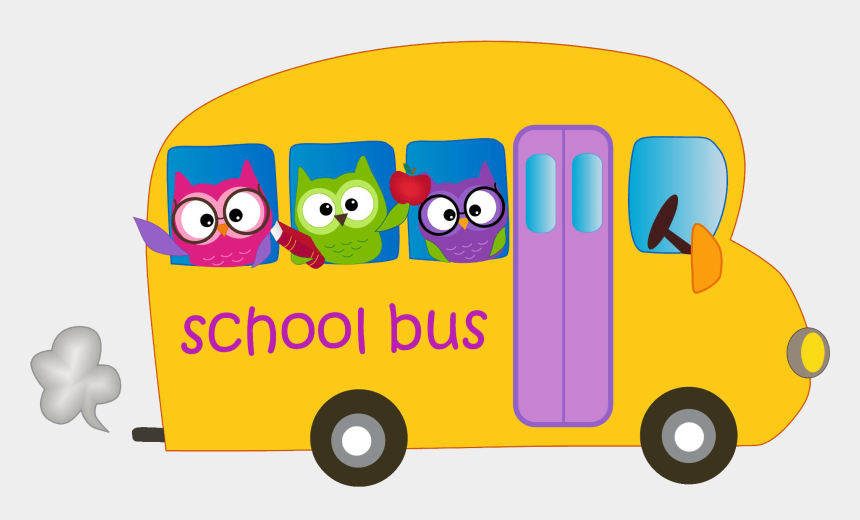 bus clip art, Cartoons - Bus Service - Owl School Bus Clipart