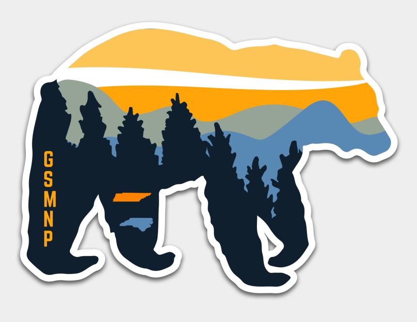 mountain clip art, Cartoons - Mountain Clipart Smoky Mountains - Great Smoky Mountains Sticker