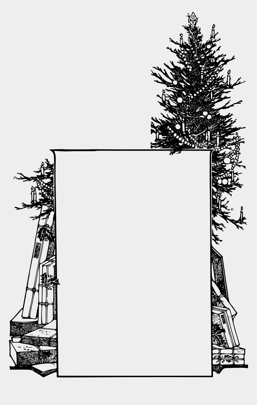 christmas tree clip art black and white, Cartoons - Christmas Tree Frame Graphic Freeuse Library - Christmas Frame Black White