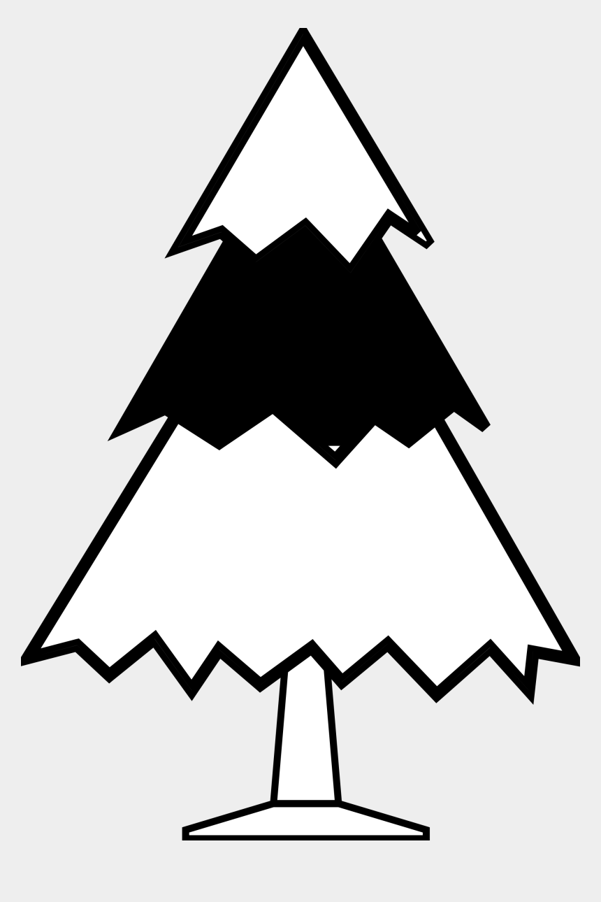 christmas tree clip art black and white, Cartoons - Christmas - Tree - Clipart - Black - And - White - Drawing Of A Oak Tree