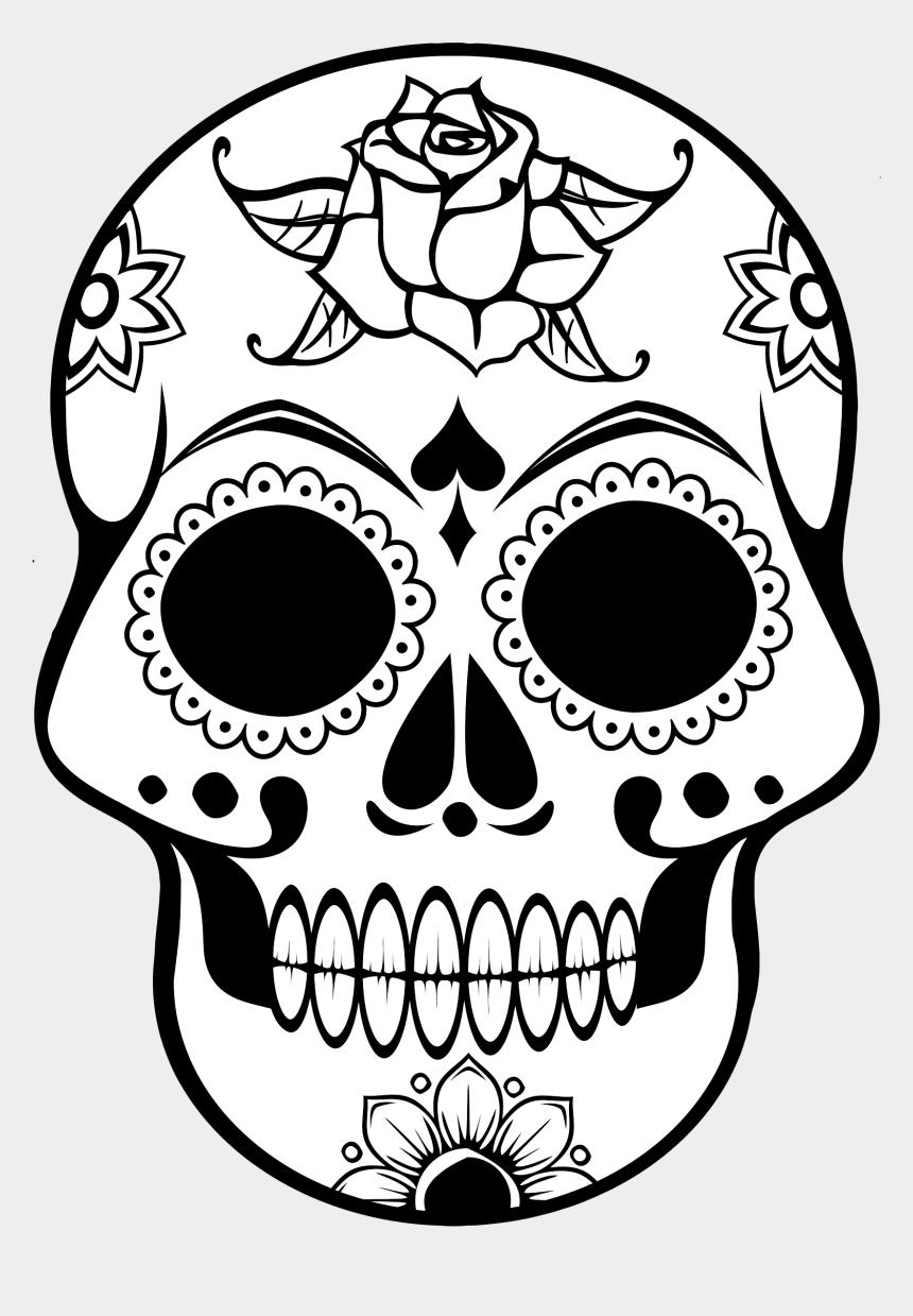 skull clip art, Cartoons - Clipart Skull Clip Art - Day Of The Dead Printable Skulls
