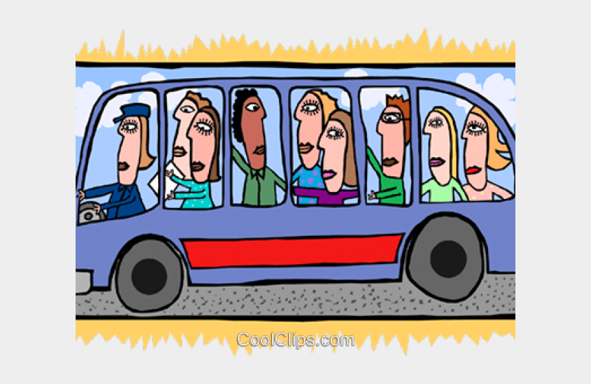 bus clip art, Cartoons - Bus Clipart Person - People On A Bus Clipart