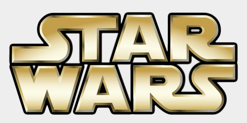 star wars clip art, Cartoons - Star Wars Logo Png - Star Wars Gold Logo