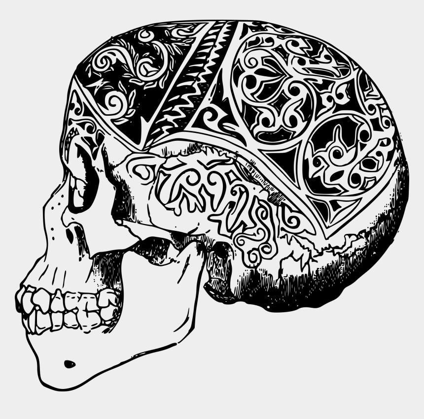 skull clip art, Cartoons - Tattoo Clip Art Sleeve Tattoo Abziehtattoo Human Skull - Tattoo Transparent Png