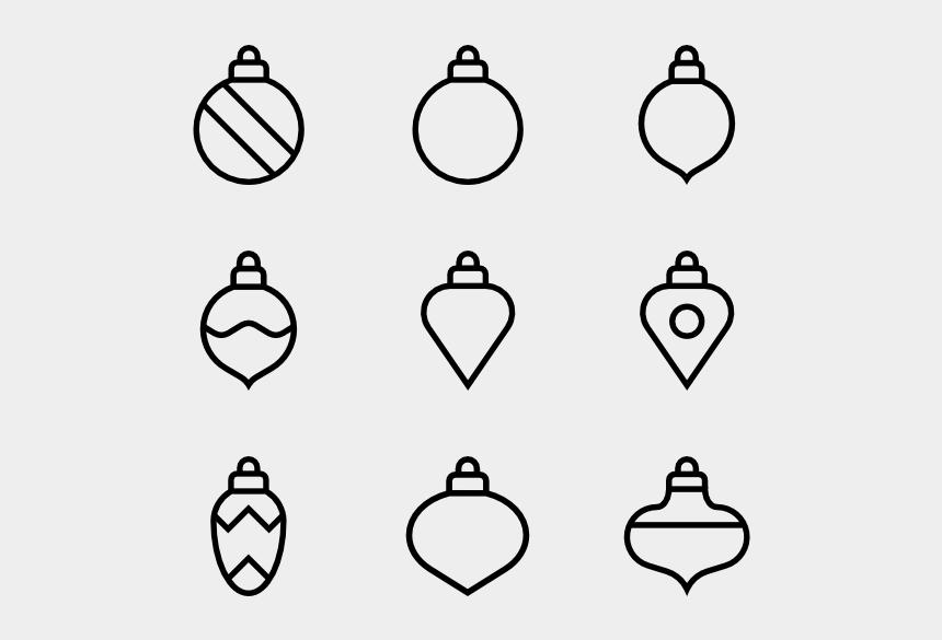 christmas tree clip art black and white, Cartoons - Toys On The Christmas Tree
