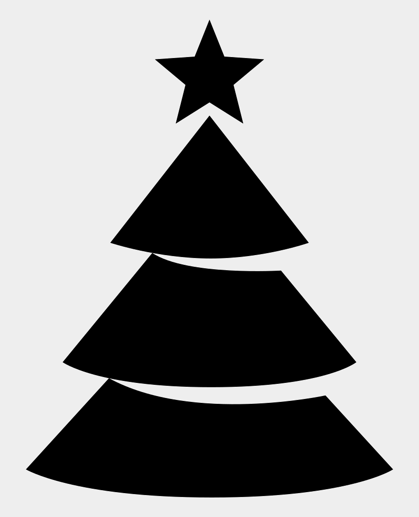 christmas tree clip art black and white, Cartoons - Png File Svg - Christmas Tree Icon Png