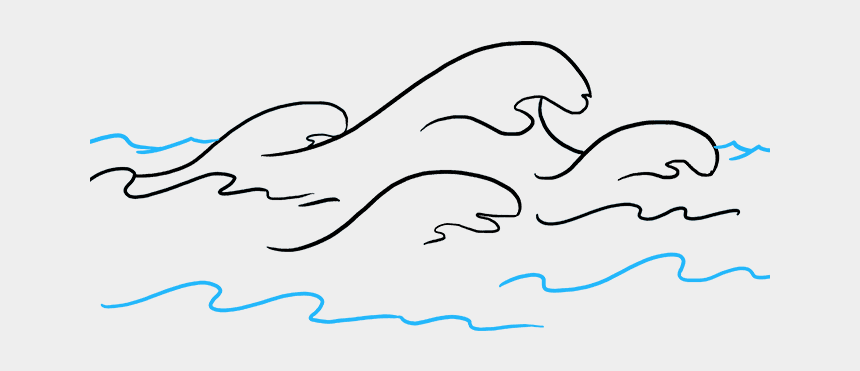 water clip art, Cartoons - How To Draw Waves Really Easy Drawing Tutorial - Waves Easy Drawing