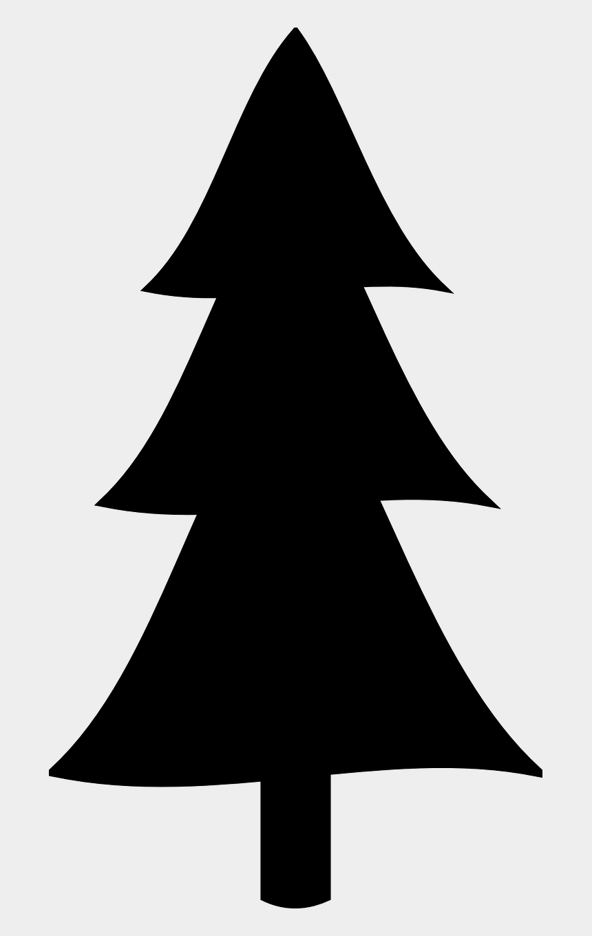 graphic about Printable Christmas Tree Pictures named Free of charge Printable Xmas Stencils - Clipart Pine Tree