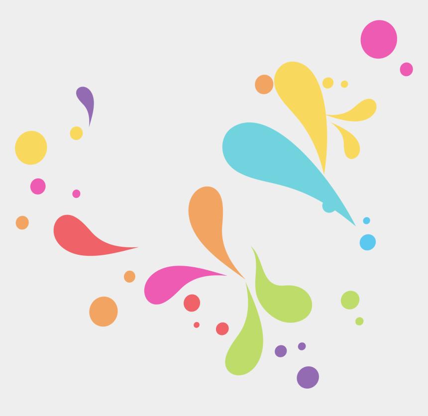 water clip art, Cartoons - Drop Color Clip Art Hand Painted Colorful Ⓒ - Color Drops Png