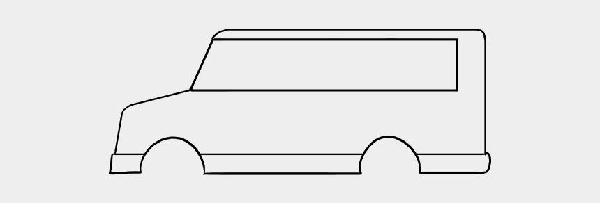 bus clip art, Cartoons - How To Draw A - Line Art