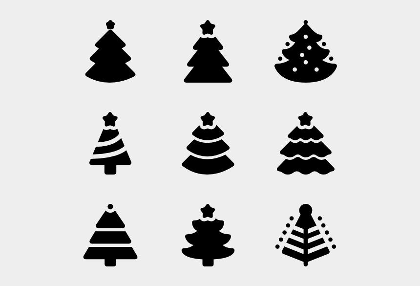 christmas tree clip art black and white, Cartoons - Cool Christmas Trees - Vector Christmas Tree Icon