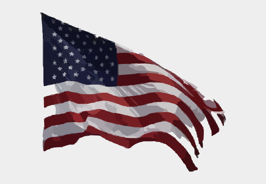 american flag clipart, Cartoons - Real American Flag Png