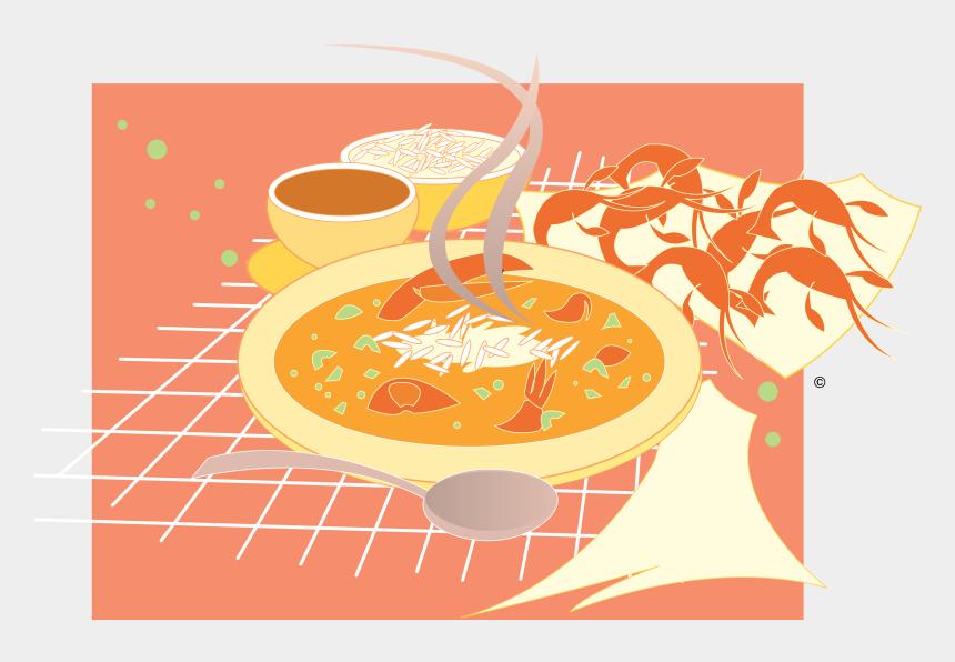 food clip art, Cartoons - Gumbo And Crawfish Vector Clip Art - Illustration