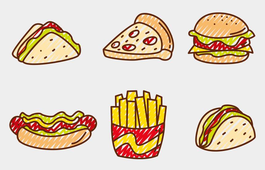 food clip art, Cartoons - Cheese Sandwich Clipart - Pizza Hot Dog Hamburger