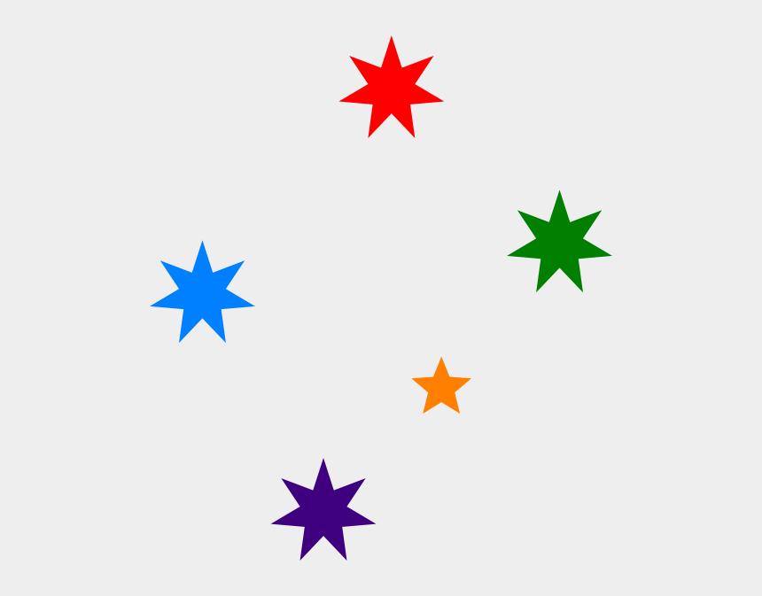 stars clip art, Cartoons - Star Clip Art - Blue Southern Cross Stars
