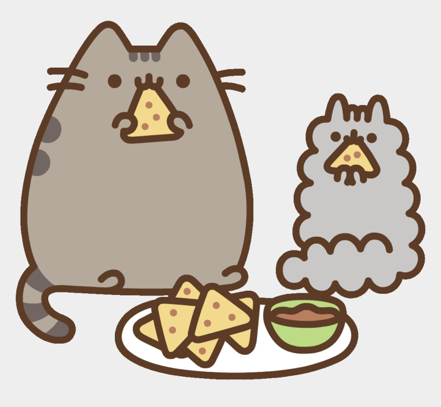 food clip art, Cartoons - Fast Food Cat Sticker By Pusheen Clipart , Png Download - Pusheen Food