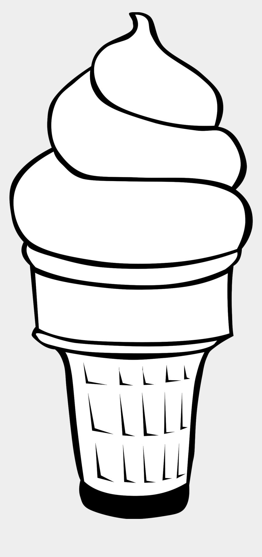 food clip art, Cartoons - Fast Food, Desserts, Ice Cream Cones, Soft Serve - Ice Cream Clipart Black And White