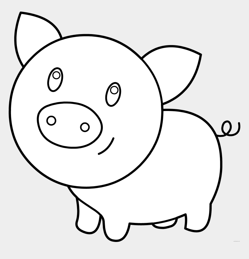 nose clipart black and white, Cartoons - Pen Color Page Clipart Clipart Kid - Pig Clipart Black And White