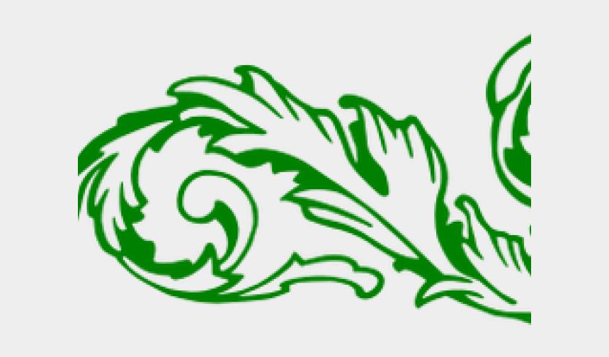 scroll clipart, Cartoons - Scroll Clipart Decorative Edge - Green Corner Border Transparent