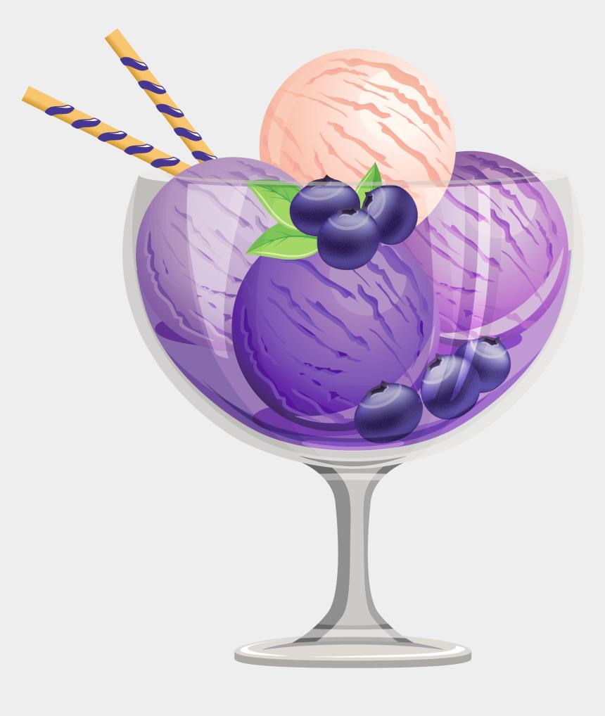 ice cream clip art, Cartoons - Transparent Blueberry Ice Cream Sundae Clipart Png - Blueberry Ice Cream Sundae
