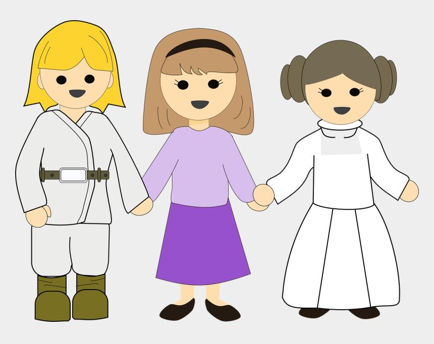 star wars clip art, Cartoons - Cool Star Wars Clipart - Enfants Tenant La Main Png
