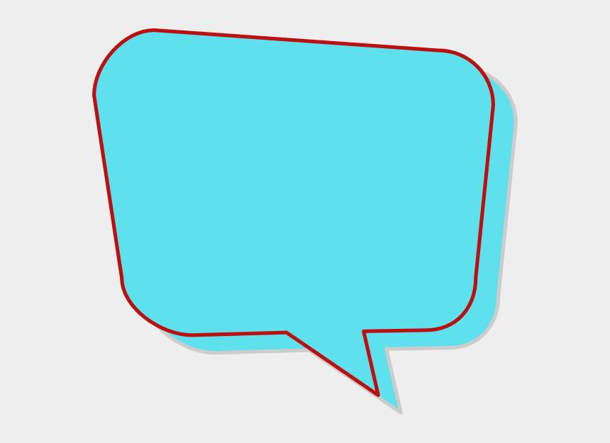 bubbles clip art, Cartoons - Aqua Speech Bubble Clip Art - Speech Bubble Color Png