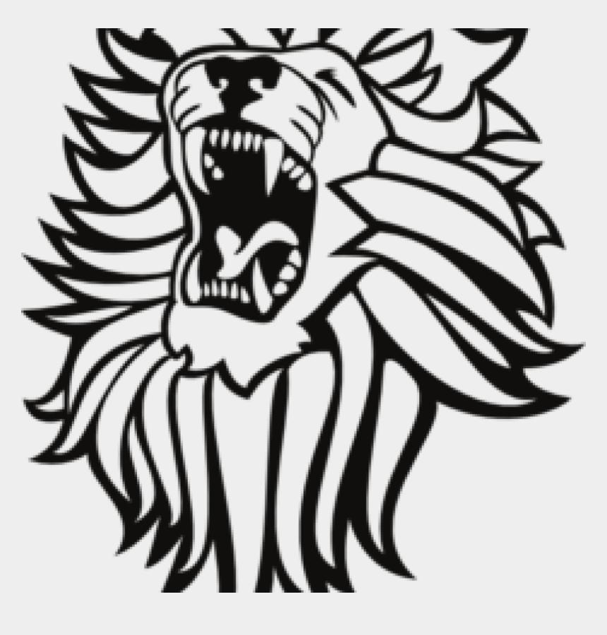 lion clip art, Cartoons - Roaring Lion Clip Art Black And White - Lion Roaring Clip Art