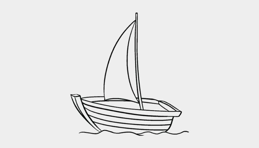 sail boat clip art, Cartoons - Sailing Boat Clipart Outline - Boat Drawing