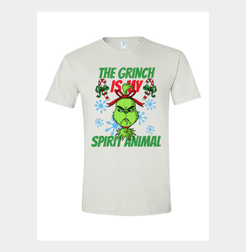t-shirt clip art, Cartoons - The Grinch Is My Spirit Animal - New Year Shirt Design