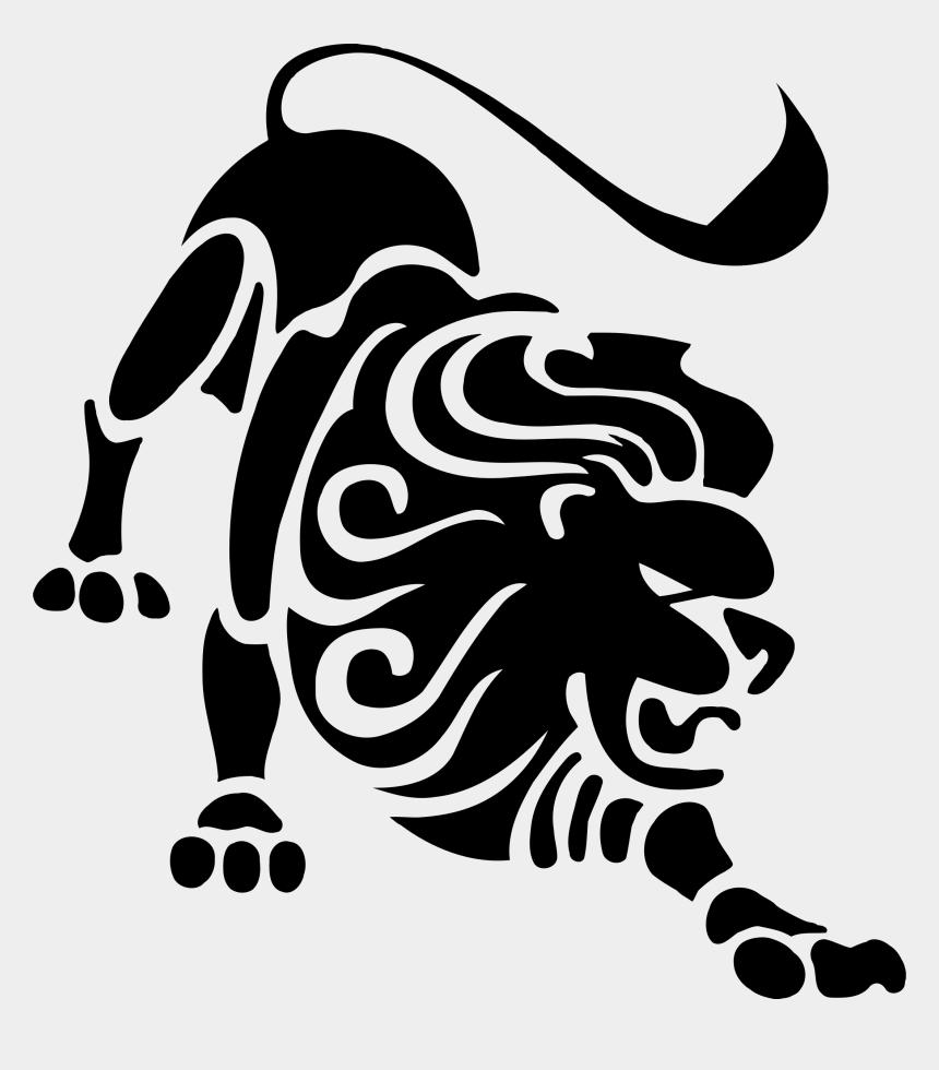 lion clip art, Cartoons - Lion Clipartblack Com Animal Free Black White - Zodiac Sign Leo Logo