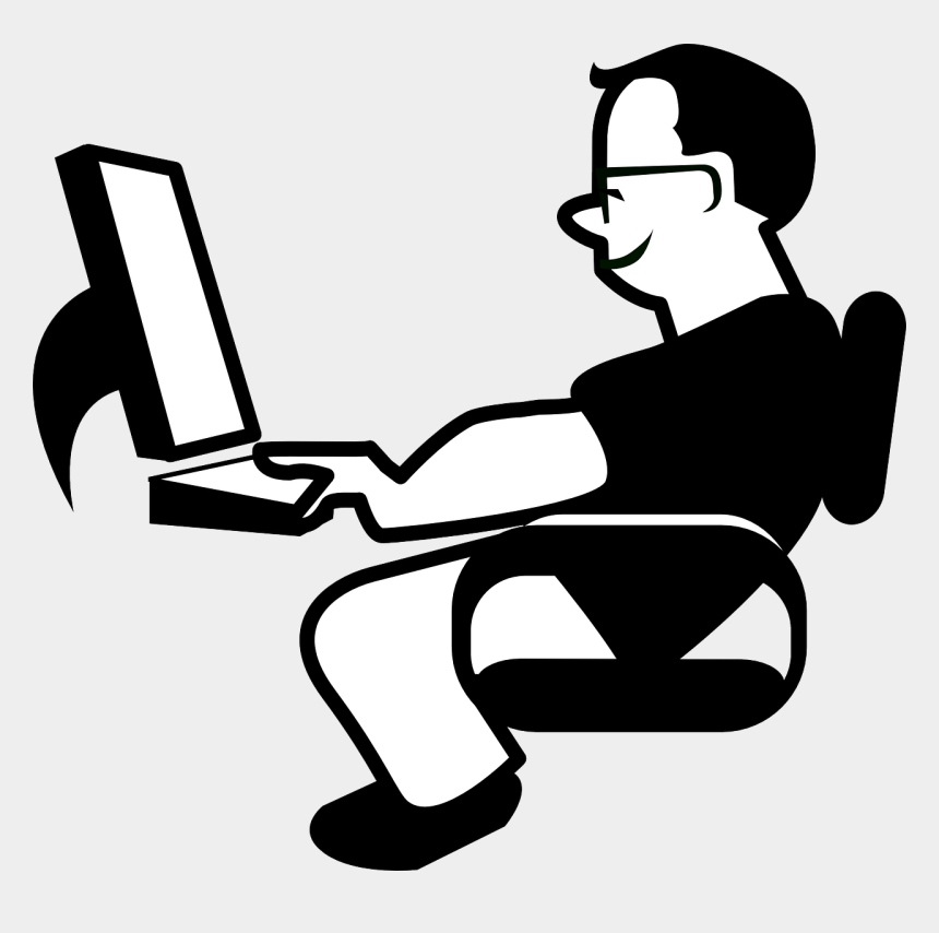 computers clipart, Cartoons - Part Time Australia Fulfill Your Study Expenses - Animated Person Using Computer