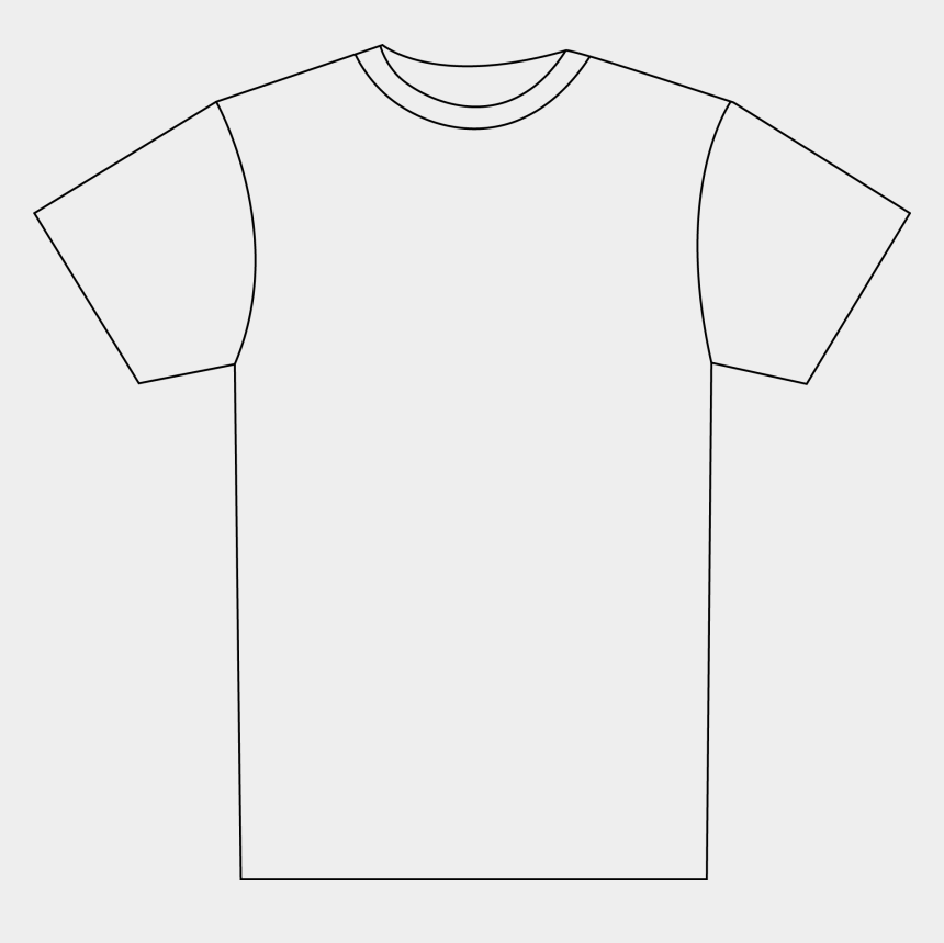 t-shirt clip art, Cartoons - Transparent Tshirt White T Shirt - Outline Of Football Shirt