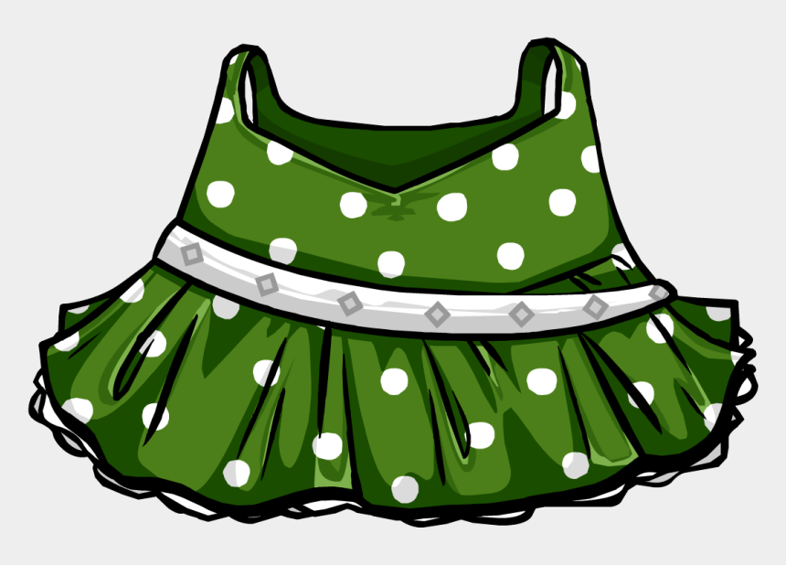 clothes clip art, Cartoons - Green Polka-dot Dress - Polka Dot