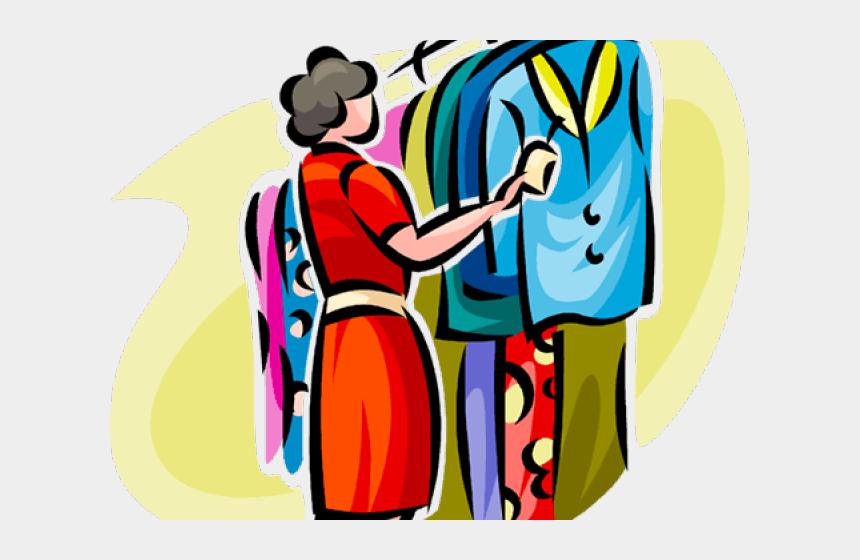 shopping clip art, Cartoons - Online Shopping Clipart Clothes Shopping - Shopping In Stores Clipart